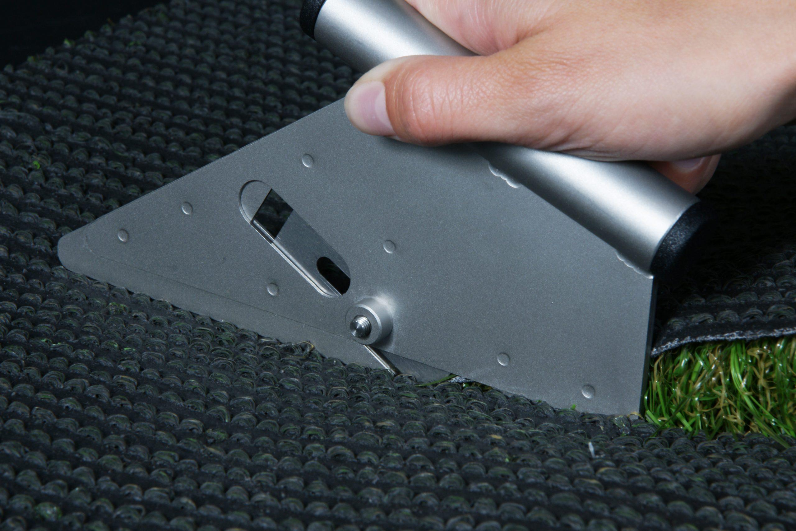 Henko knife cut artificial grass cutting