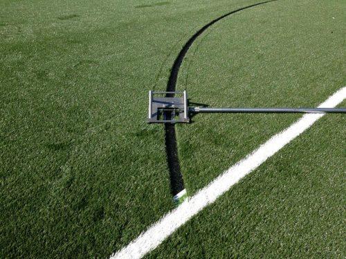 Line Cutter mes lijnen cirkels kunstgras voetbalveld hockey