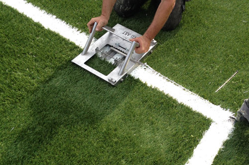 Line cutter corne circle knife artificial turf grass