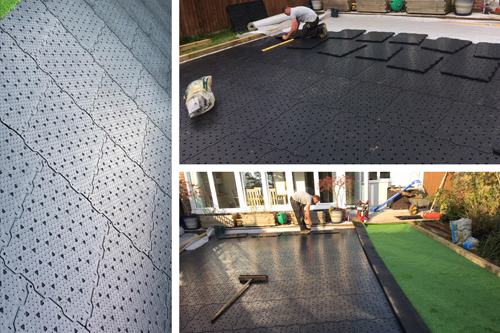 Base Panel Shockpad Drainage Protection Synthetic grass